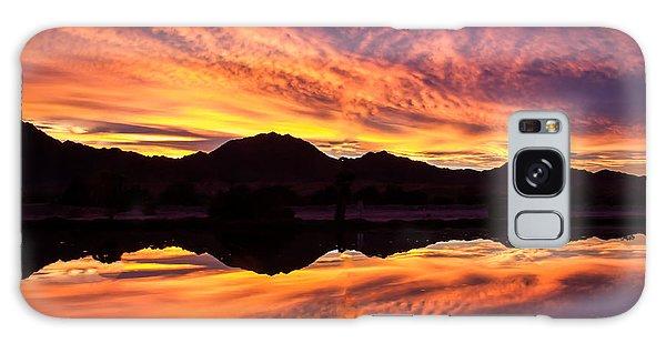 Haybale Galaxy Case - Reflected Sunrise by Robert Bales