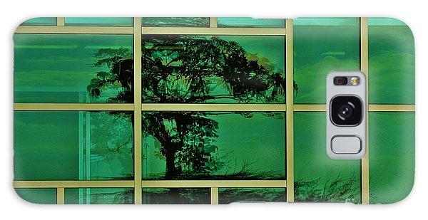 Reflected Tree Framed Galaxy Case by Craig Wood