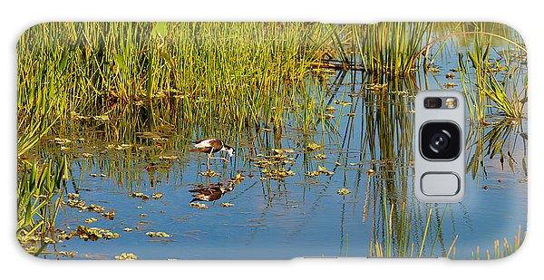 Boynton Galaxy S8 Case - Reflection Of A Bird On Water, Boynton by Panoramic Images
