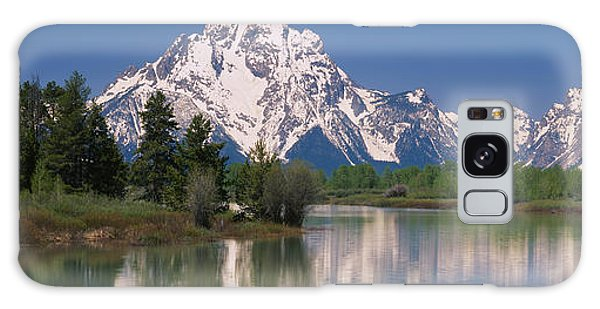 Grass Snake Galaxy Case - Reflection Of A Mountain Range by Panoramic Images