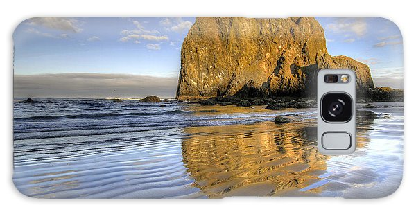 Reflection Of Haystack Rock At Cannon Beach 2 Galaxy Case
