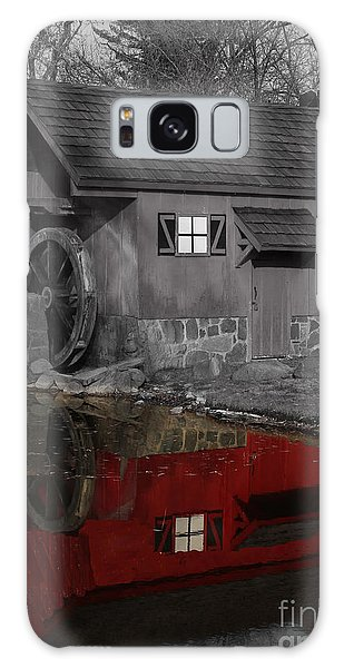 Reflection Of Red Mill Galaxy Case by Bill Woodstock