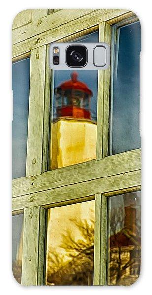 Reflection Of Sandy Hook Lighthouse Galaxy Case by Gary Slawsky