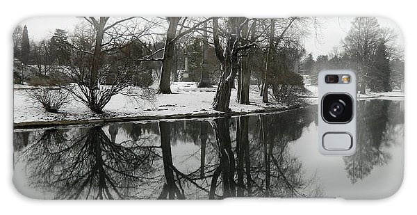 Reflection Pond Spring Grove Cemetery Galaxy Case by Kathy Barney