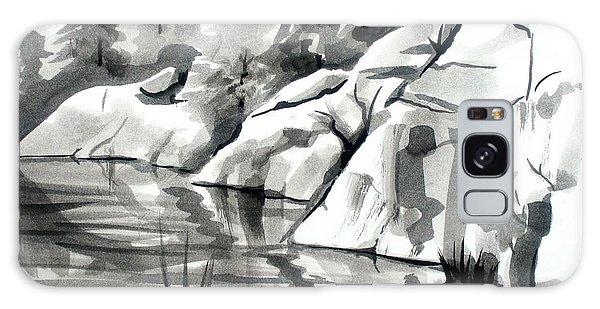 Reflections At Elephant Rocks State Park No I102 Galaxy Case