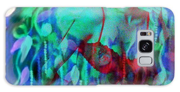 Reflections In Floral And Red Galaxy Case by Diana Riukas