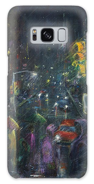 Reflections Of A Rainy Night Galaxy Case