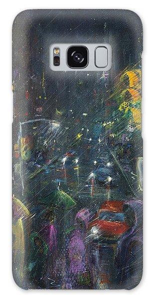 Reflections Of A Rainy Night Galaxy Case by Leela Payne