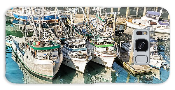 Reflections Of Fishing Boats Galaxy Case
