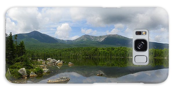 Reflections Of Katahdin At Sandy Stream Pond Galaxy Case