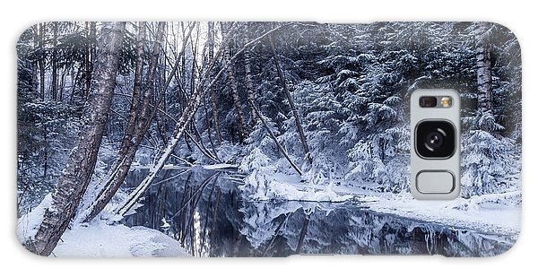 Reflections On Wintry River Galaxy Case