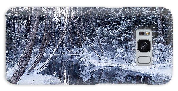 Reflections On Wintry River Galaxy Case by Teemu Tretjakov