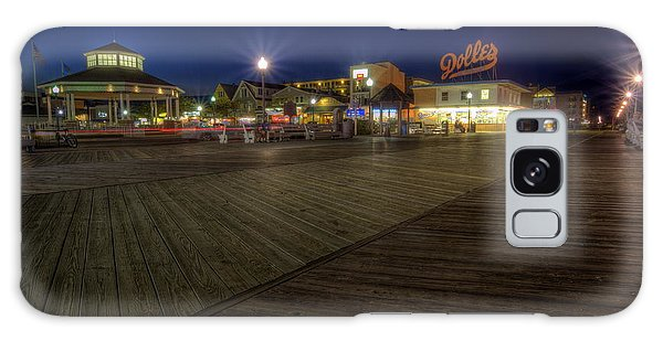 Rehoboth Beach Boardwalk At Night Galaxy Case