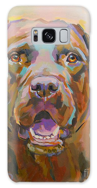 Chocolate Lab Galaxy Case - Reilly by Kimberly Santini