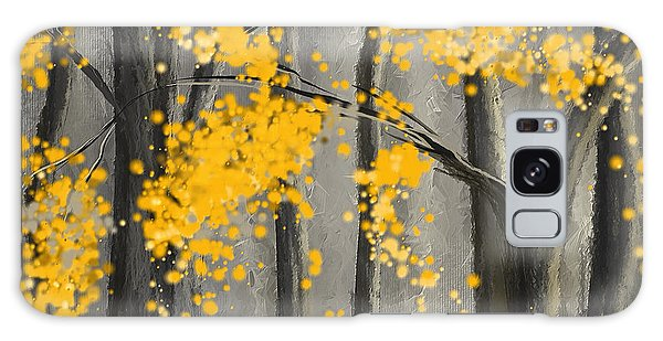 Rejuvenating Elements- Yellow And Gray Art Galaxy Case