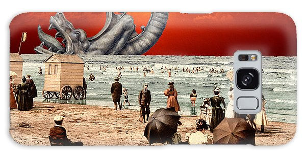 Relax On The Beach Collage Galaxy Case