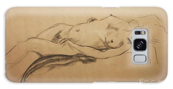 Relaxing Nude Galaxy Case by Gabrielle Schertz