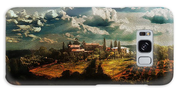 Renaissance Landscape With Power Lines Galaxy Case