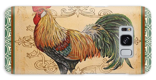 Renaissance Rooster-a-green Galaxy Case by Jean Plout