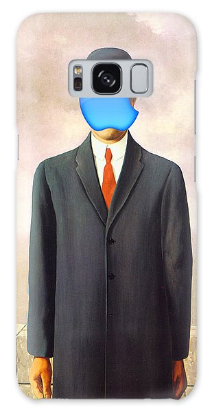 Rene Magritte Son Of Man Apple Computer Logo Galaxy Case