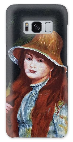 Renoir-young Girl In A Straw Hat Galaxy Case