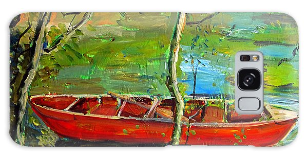 Renoirs Canoe Galaxy Case by Charlie Spear