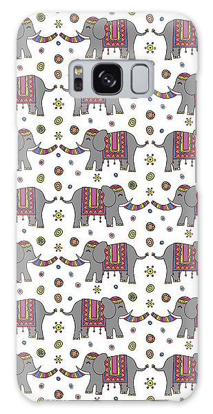 Repeat Print - Indian Elephant Galaxy Case