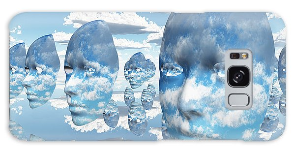 Repeating Faces Of Clouds Galaxy Case by Bruce Rolff