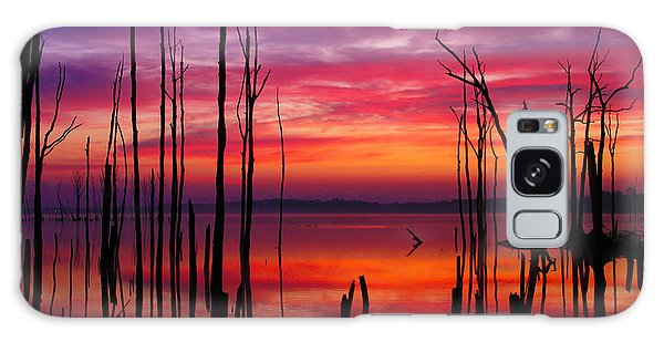 Reservoir At Sunrise Galaxy Case