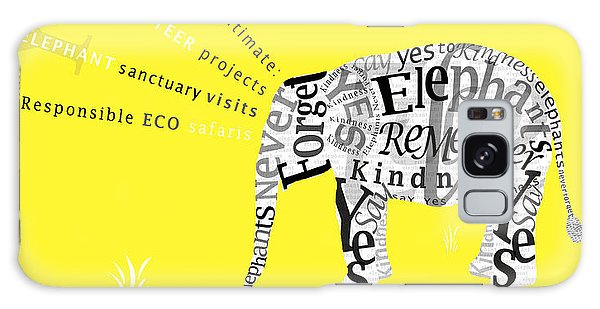Responsible Tourism Elephant Typography Poster Galaxy Case by Nola Lee Kelsey
