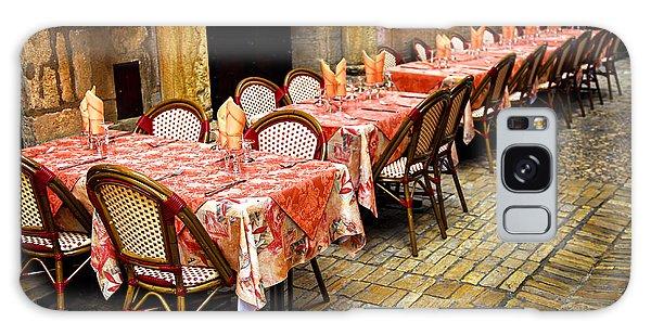 Street Cafe Galaxy Case - Restaurant Patio In France by Elena Elisseeva