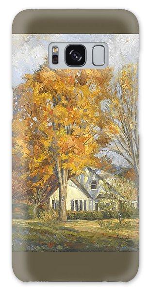 Scenery Galaxy Case - Restful Autumn by Lucie Bilodeau