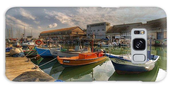 resting boats at the Jaffa port Galaxy Case