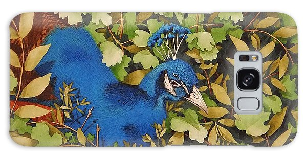 Resting Peacock Galaxy Case by Katherine Young-Beck