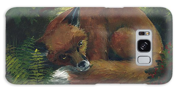 Resting Red Fox Galaxy Case