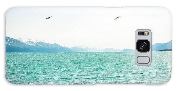 Resurrection Bay With Sea Gulls Galaxy Case