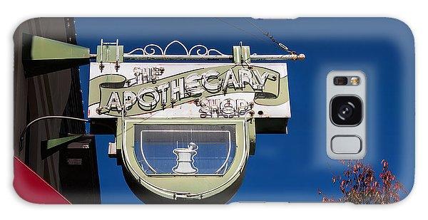 retro Apothecary shop sign Galaxy Case