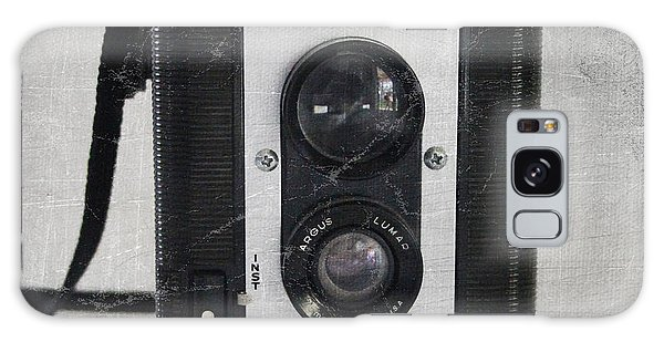 White Galaxy Case - Retro Camera by Linda Woods