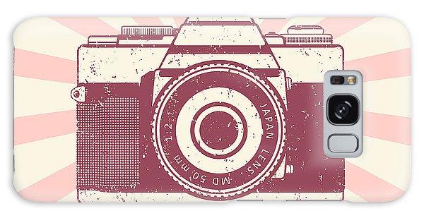 Metal Galaxy Case - Retro Camera, Vintage Design, Vector by Nexusby