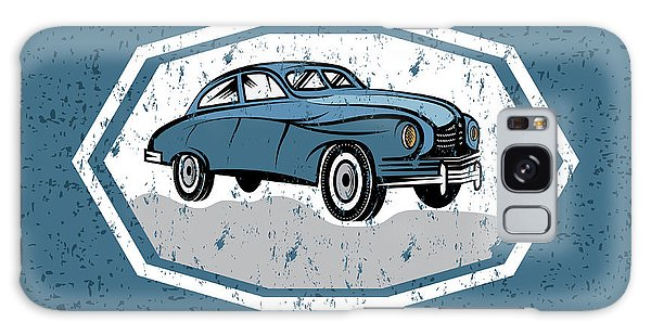 Coupe Galaxy Case - Retro Car Old Vintage Grunge Poster by Uvaconcept