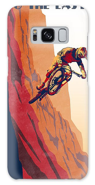 Bull Galaxy S8 Case - Retro Cycling Fine Art Poster Good To The Last Drop by Sassan Filsoof