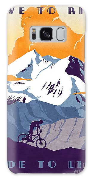 Day Galaxy Case - retro cycling poster Live to Ride Ride to Live  by Sassan Filsoof