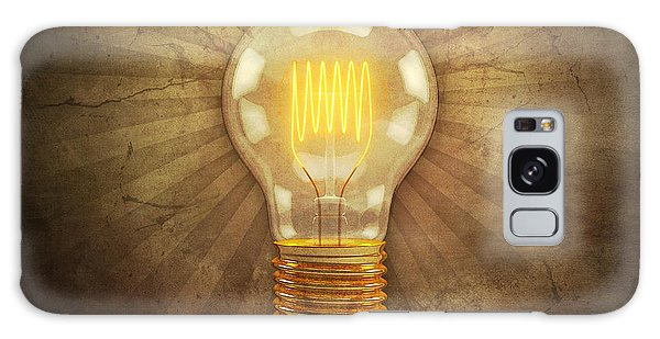 Beam Galaxy Case - Retro Light Bulb by Scott Norris