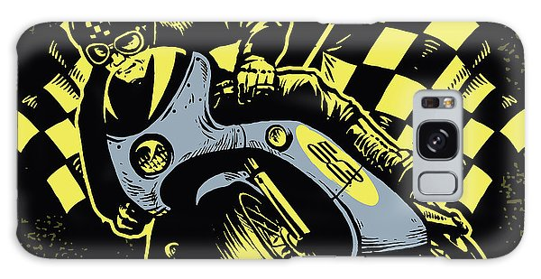 Made Galaxy Case - Retro Motorcycle Race by Bazzier