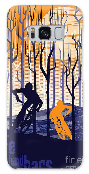 Retro Mountain Bike Poster Life Behind Bars Galaxy Case