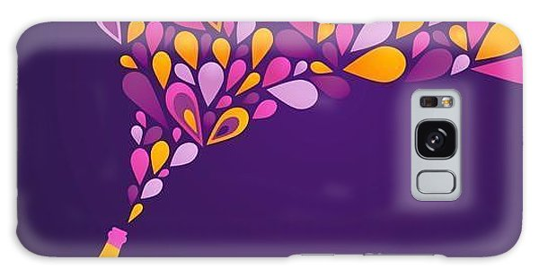Bar Galaxy Case - Retro Party Background With Champagne by Marish