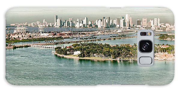 Retro Style Miami Skyline And Biscayne Bay Galaxy Case