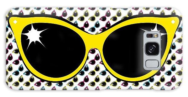 Retro Yellow Cat Sunglasses Galaxy Case