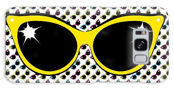 Retro Yellow Cat Sunglasses Galaxy Case