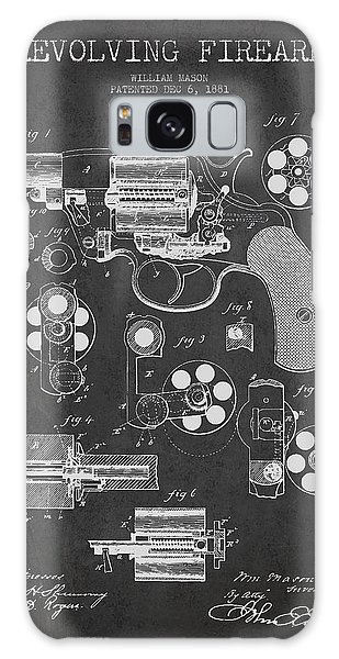 Weapons Galaxy Case - Revolving Firearm Patent Drawing From 1881 - Dark by Aged Pixel